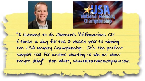 U.S.A. Memory Champ Ron White