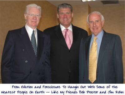 Vic Johnson with Jim Rohn and Bob Proctor